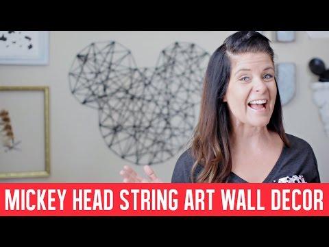 Mickey Head String Art Wall Decor