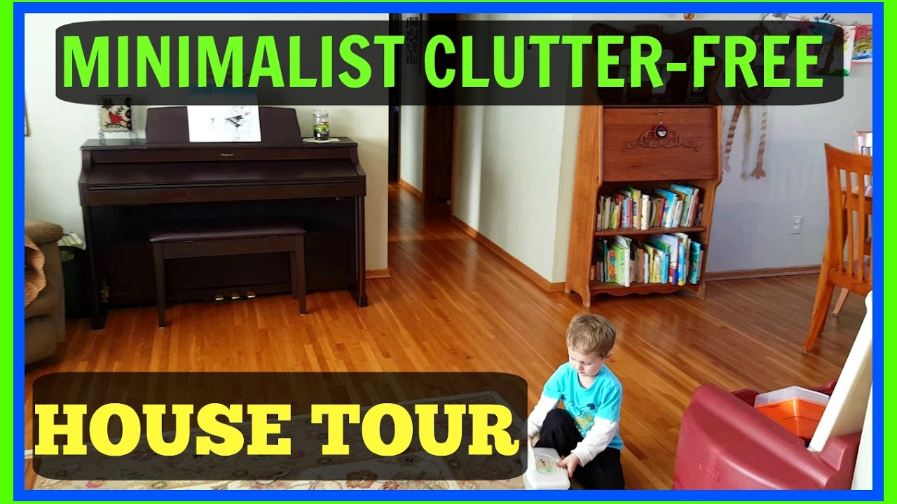 Clutter free minimalist house tour youtube for Minimalist home tour