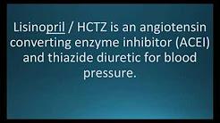How to pronounce lisinopril hydrochlorothiazide (Zestoretic) (Memorizing Pharmacology Flashcard)