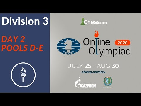 Online Olympiad | Division 3 - Day 2 | Pools D/E |