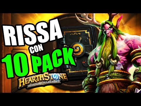 HEARTHSTONE: RISSA + 10 BUSTE - no comment