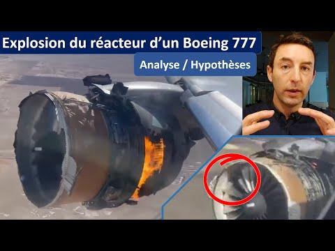 EXPLOSION ET FEU MOTEUR SUR UN BOEING 777 : analyses et hypothèses sur la cause de l'incident