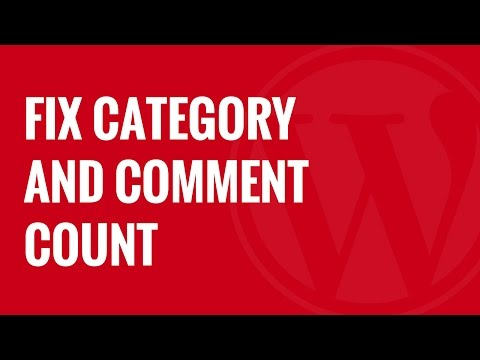 How to Fix Category and Comment Count After WordPress Import - 동영상
