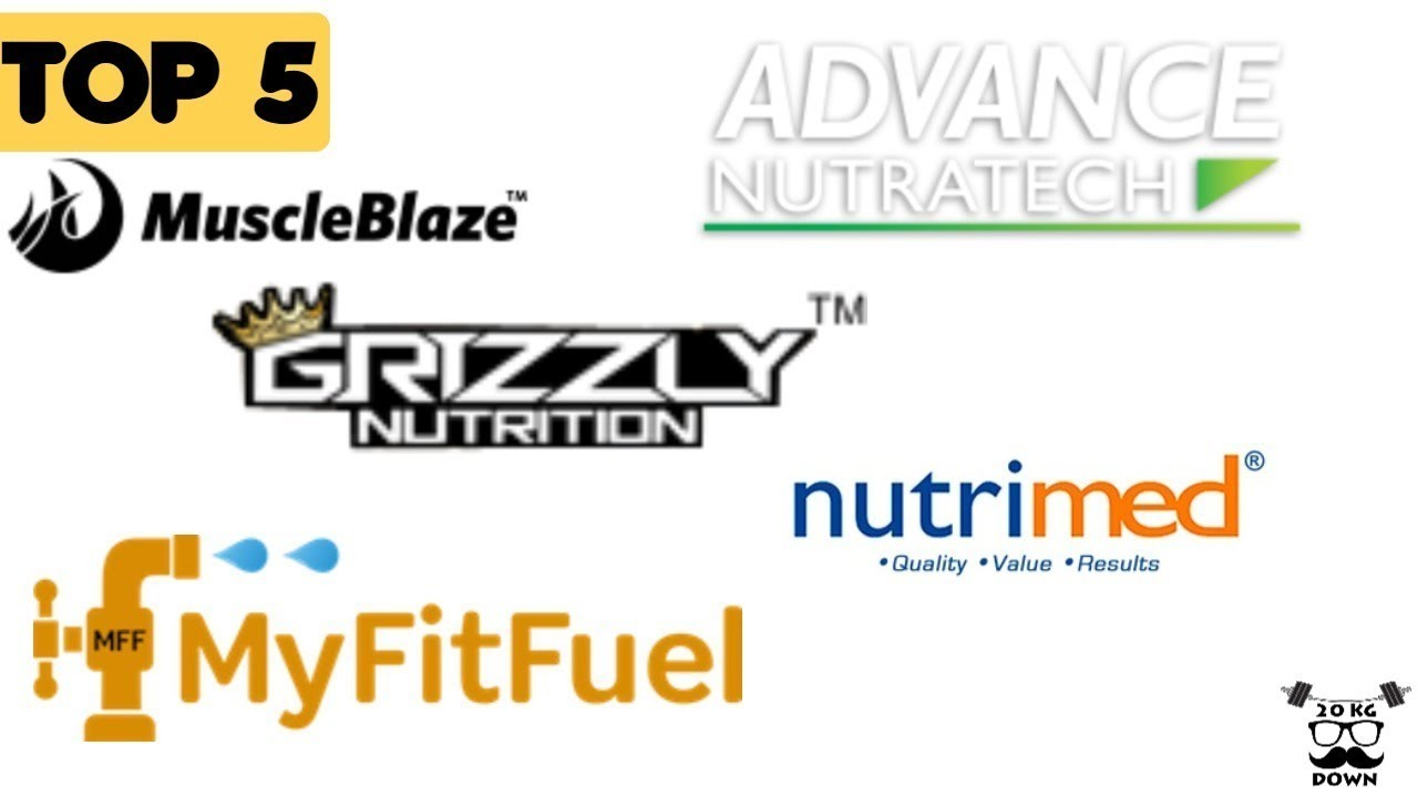Top 5 Supplement Brands In India | Grizzly Nutrition | Nutrimed |  Muscleblaze And 2 More