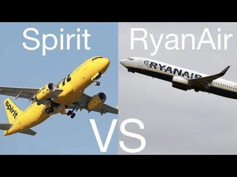 Spirit Airlines VS RyanAir