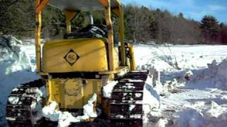 pushing snow with Allis Chalmers HD9 part 2