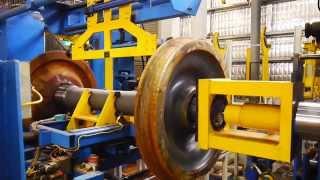 Wheel Shop Automation: Railway Wheel Mount Press Machine Cell