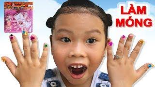 Bộ Làm Móng Đính Đá Màu Sắc ❤Susi kids TV❤