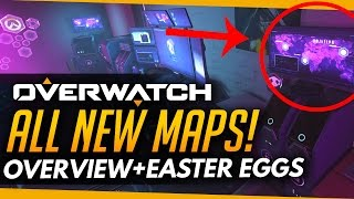 Overwatch | ALL NEW MAPS - Detailed Overview + Easter Eggs
