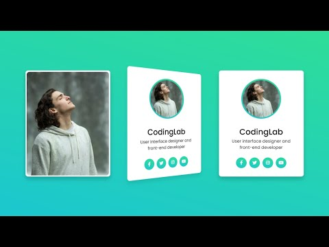 3D Flip Card On Hover Using Only HTML & CSS | CodingLab