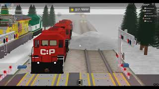 Roblox: Railfanning At Night And Day Canadian Pacific GP20C ECO's! and Union Pacific SD70M's!