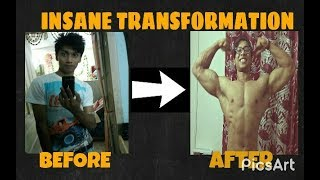 My Transformation   Skinny to Muscular   Motivational  