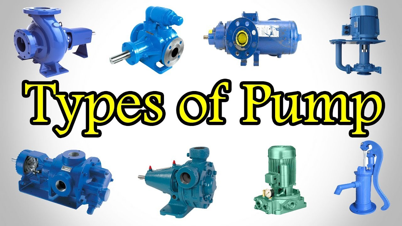 Pumps Types - Types of Pump - Classification of Pumps - Different Types of  Pump