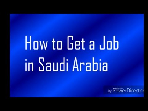 How to get/search job in Saudi Arabia? (Urdu/Hindi)