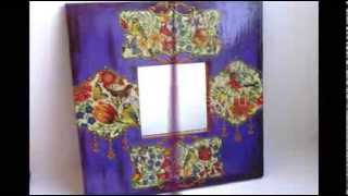 Потрясающие рамки для зеркала(Такие рамки для зеркала только украсят ваш дом и сделают его волшебным. рамка для зеркала рамка для зеркала..., 2014-01-16T10:29:25.000Z)