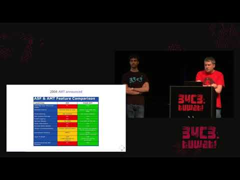 34C3 -  Intel ME: Myths and reality