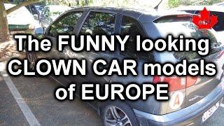 Funny looking CLOWN CAR models of EUROPE