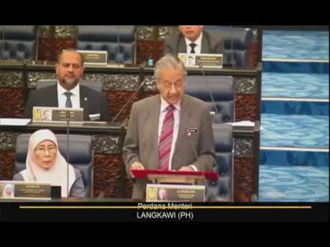 Tun Dr Mahathir bentang Usul Khas Parlimen