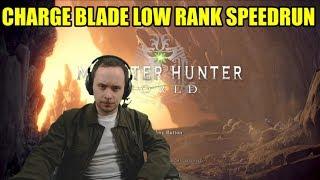 Charge Blade Low Rank % Speedrun -  (Monster Hunter World - PS4 Pro)