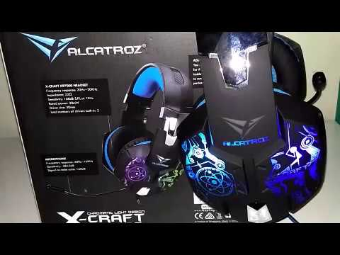 Review Unboxing Headshet Alcatroz X Craft Hp 7000 Super Led Light Indonesia