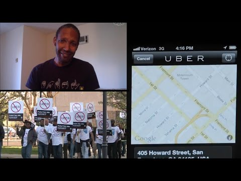 Taxi Drivers Protest Uber Working in Nevada