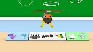 Уроки з Винтиком 3D  Тварини- Восьминіг, дельфін, сова, кажан, папуга, баранчик, зайчик