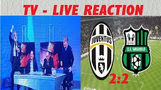 Juventus-Sassuolo 2:2 / TV Live Reaction