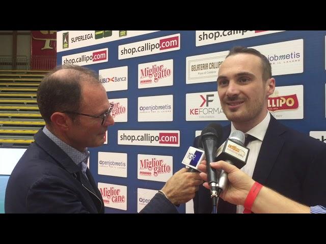 #SuperLega, intervista a coach Antonio Valentini dopo la vittoria su Castellana Grotte