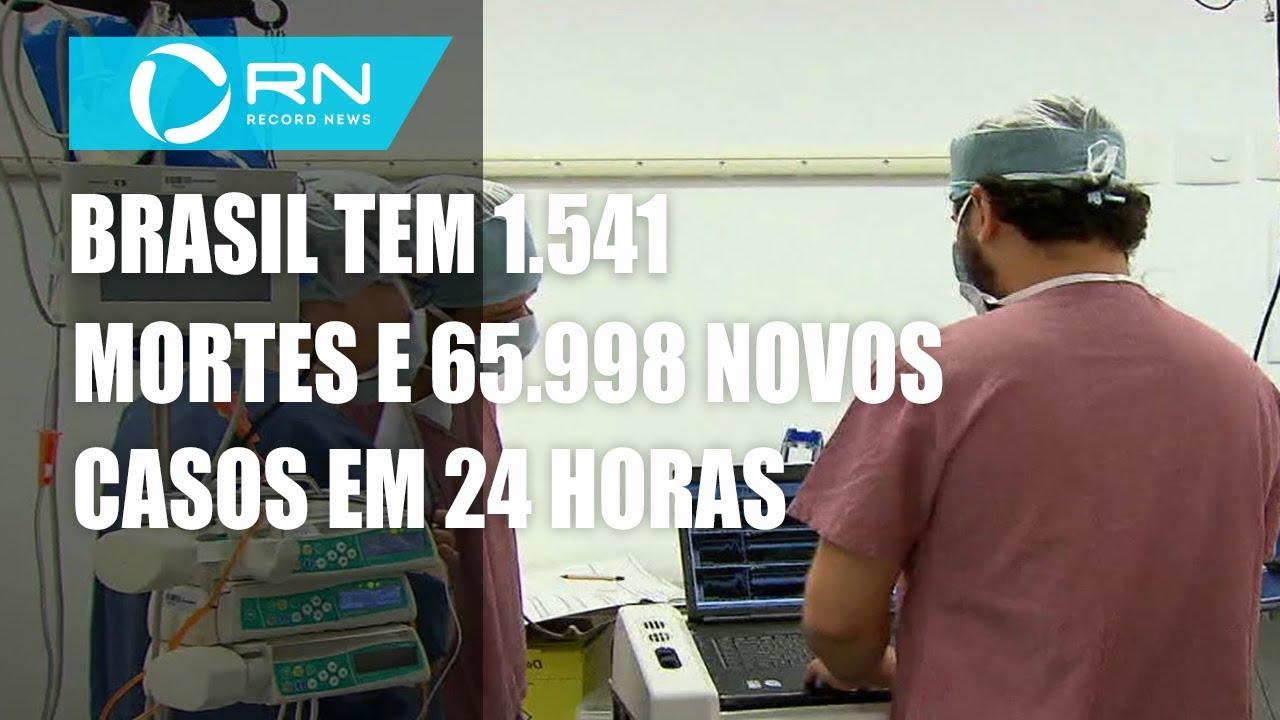 Brasil tem 10.390.461 casos confirmados e 251.498 mortes por coronavírus