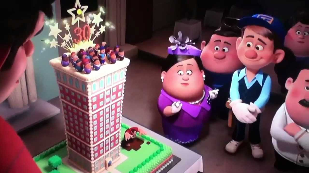 Wreck It Ralph Birthday Cake Scene