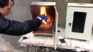 2 электрических шкафа объемом 25 литров  Горение пучка резиновой изоляции кабеля типа КГ  Повторныи(, 2014-02-03T13:18:22.000Z)