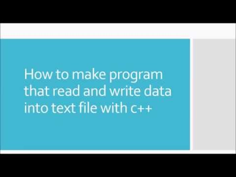 c++ tutorial: how to read and write data into text file with c++(with auto increment feature)