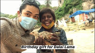 Best birthday gift for His Holiness the 14th Dalai Lama || Tibetan vlogger