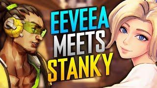 🤝 Best Mercy God EeveeA Meets Best Lucio DSPStanky (Overwatch)