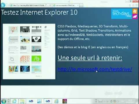 [TechDays 2012] Les nouveautés HTML5 et CSS3 dans Internet Explorer 10