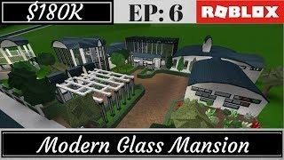 Roblox | Bloxburg: Modern Glass Mansion (Speed Build)