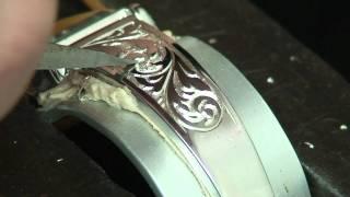 銀の時計に彫刻いれてみたパート3
