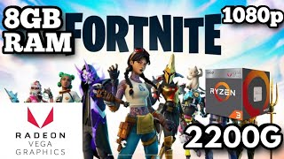 🔴AMD Ryzen 3 2200G FORTNITE SEASON 10 Without Graphics Card - Gameplay🔴