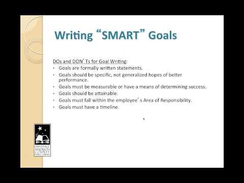 S.M.A.R.T. Goal Writing