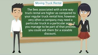 One Way Moving Truck Rental information by MovingTruckRental.net