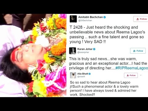 Reema Lagoo Death - Bollywood Celebs Gives Their Condolonces