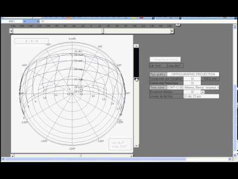 Polar SunPath chart Excel spreadsheet  Diagrama Polar de trayectoria solar en Excel  YouTube