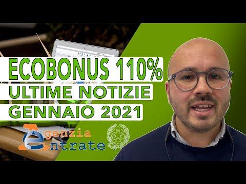 ECOBONUS 110% - Ultime notizie GENNAIO 2021 (Aggiornamento Settimanale)