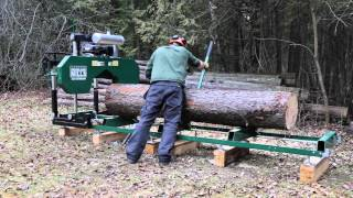 2016 HM126 Portable Sawmill In Action
