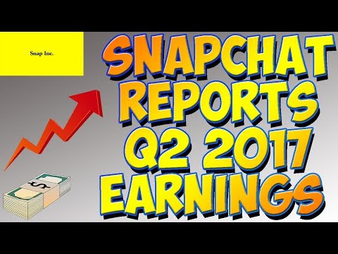 Snapchat Reports Q2 Earnings || Stock PLUMMETS After-Hours!!!