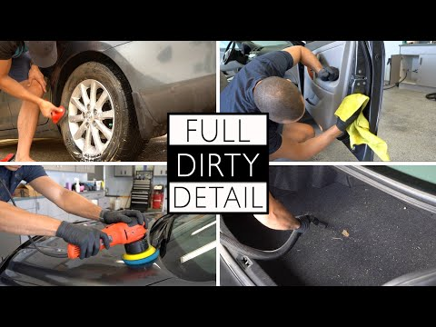 COMPLETE DIRTY CAR DETAIL    Full Interior and Exterior Cleaning of a Toyota Camry!