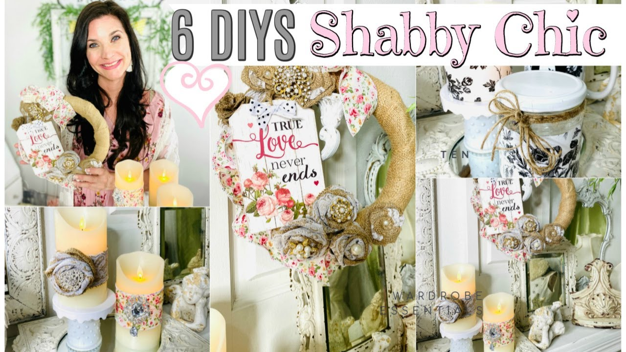 Shabby chic décor became popular several years ago, and now it's only getting more and more popular because it has special charm and chic. 6 Diys Shabby Chic Dollar Tree Crafting My Stash Mother S Day Decor Craft Olivia Romantic Home Diy Youtube