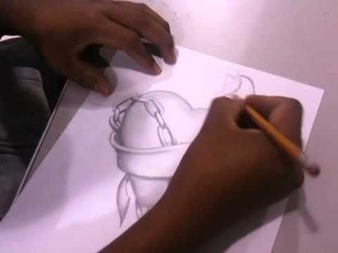 dibujando y ensenandoles como un corazon es Pintando a lápiz - YouTube