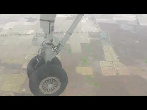 Flight landing at Vijayawada International Airport Gannavaram | Landing Gear of aeroplane |