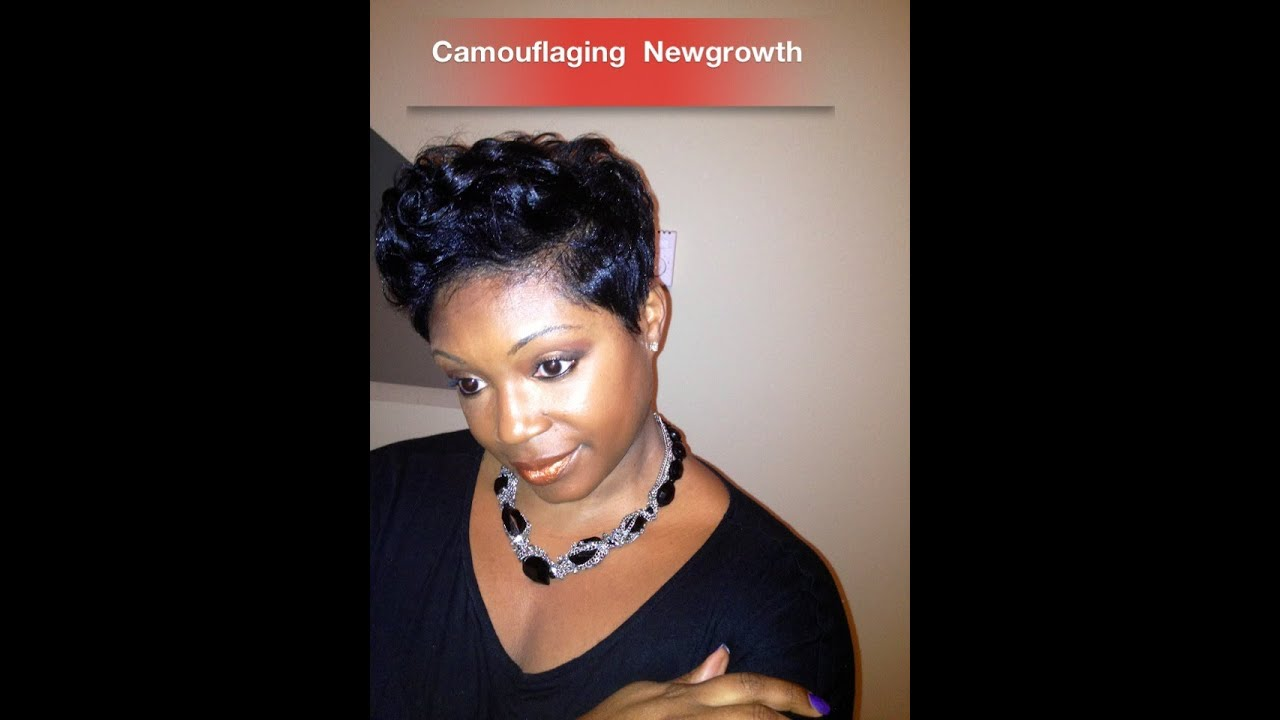 Short Hair Tutorial   Camouflaging My New Growth   YouTube